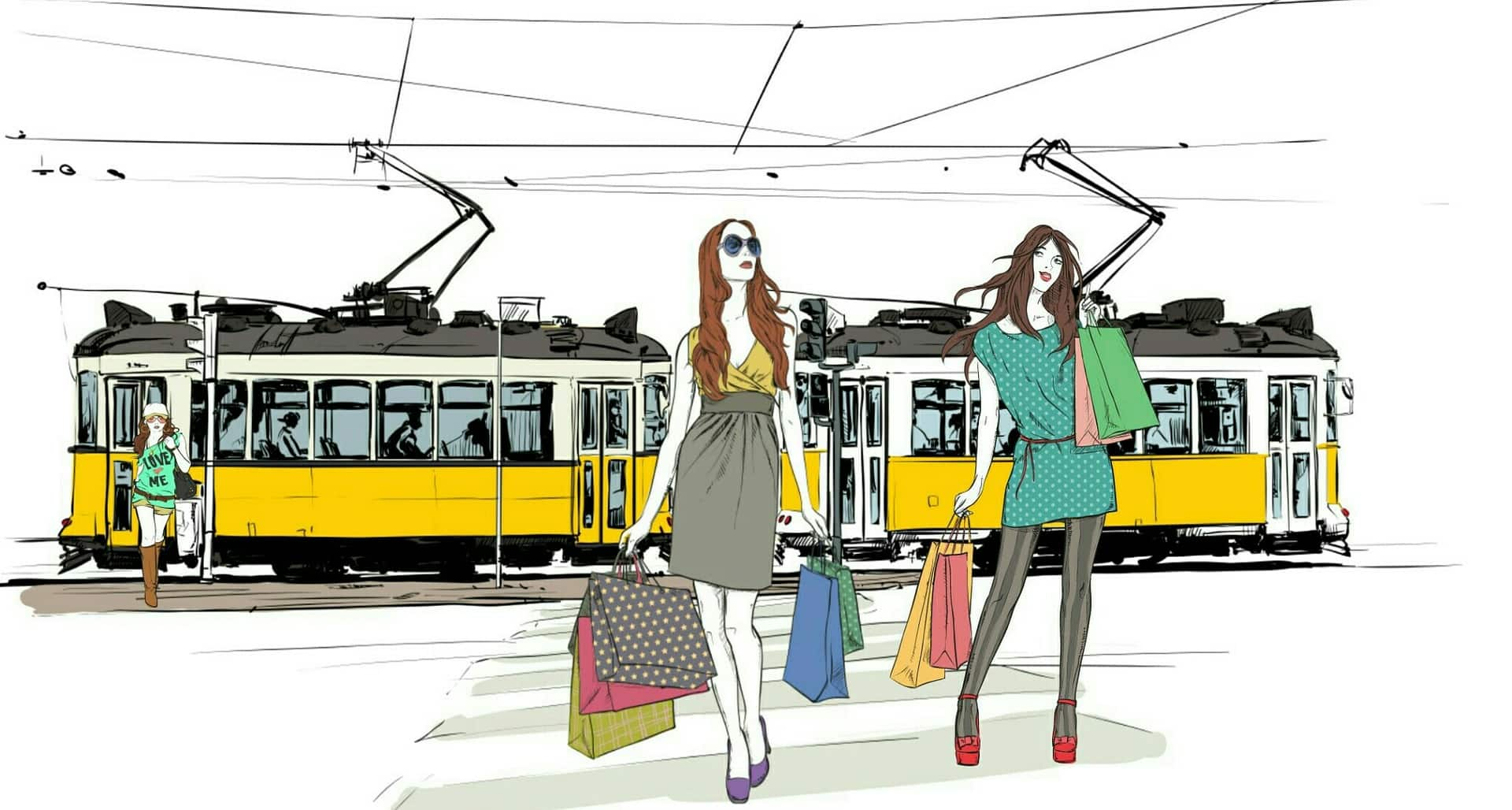 трамвай и шопинг