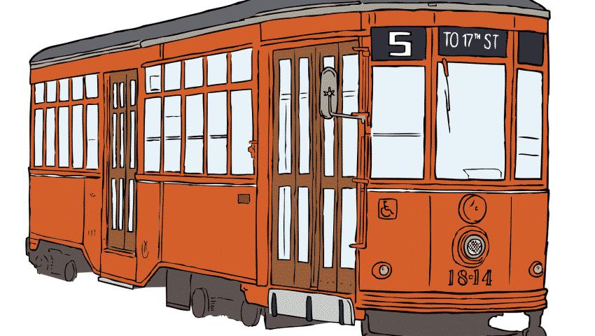 До Съдебната палата и назад: Оцеляване в трамвай номер 5