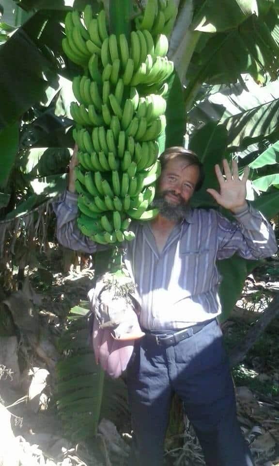 Илиян Недев в банановата плантация