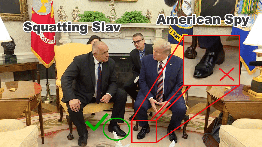 Squatting Slav vs American Spy